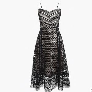 BNWT J. CREW Women's Black Daisy Lace Dress Size 6